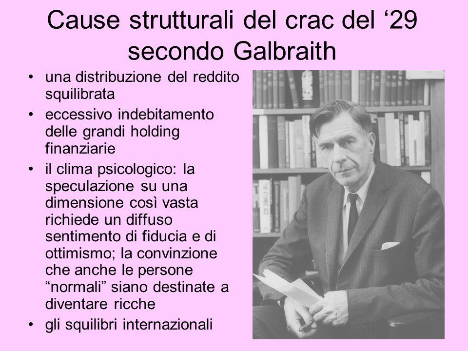 Cause strutturali del crac del '29 secondo Galbraith