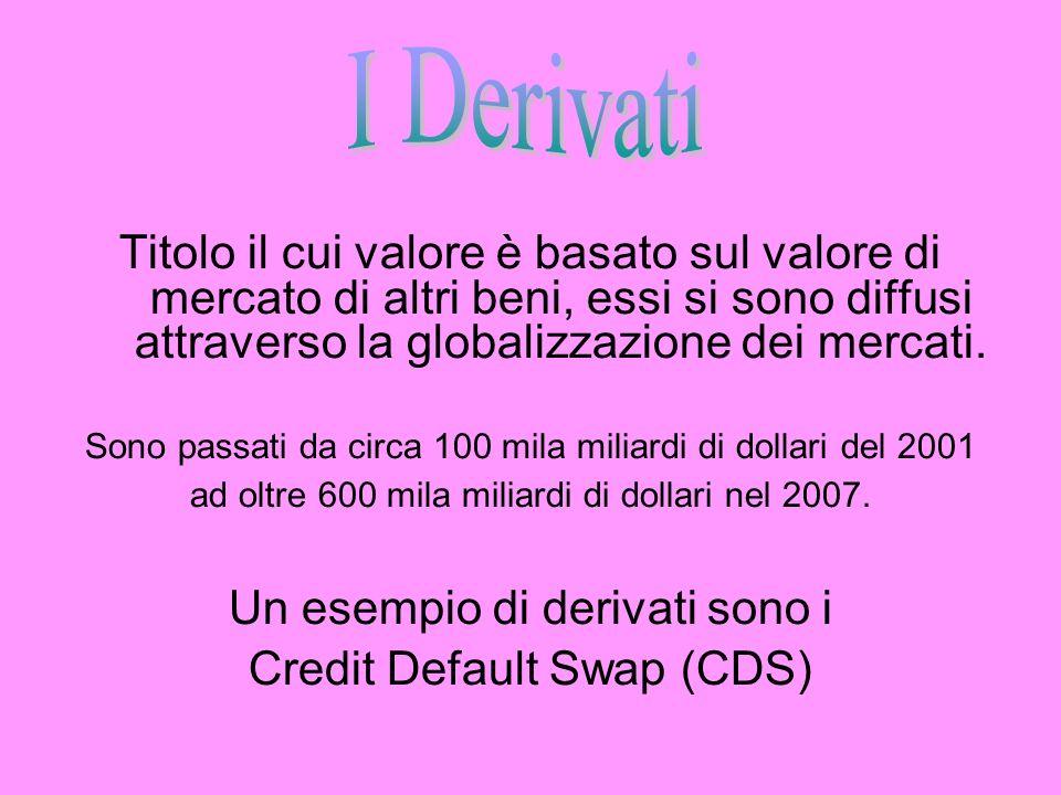I Derivati Titolo il cui valore è basato sul valore di mercato di altri beni, essi si sono diffusi attraverso la globalizzazione dei mercati.