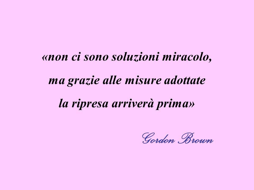 Gordon Brown «non ci sono soluzioni miracolo,