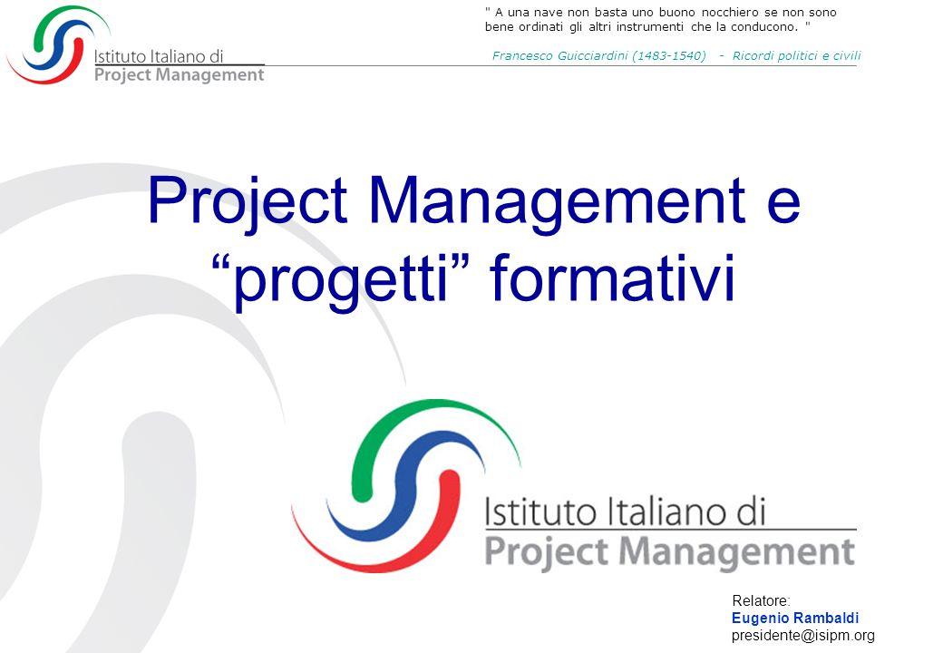 Project Management e progetti formativi