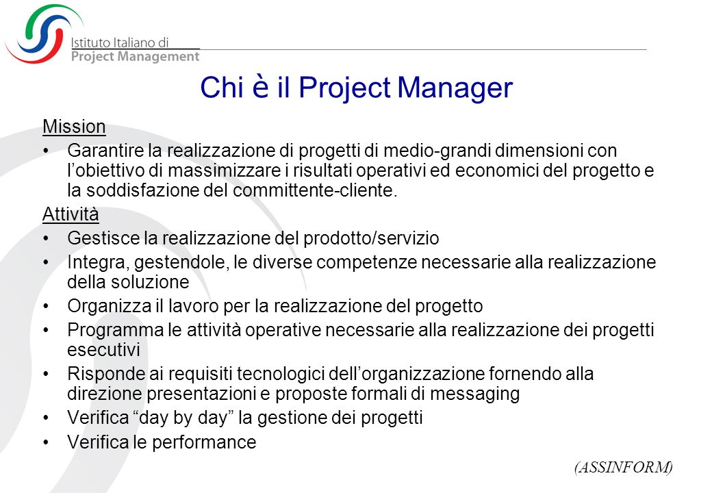Chi è il Project Manager