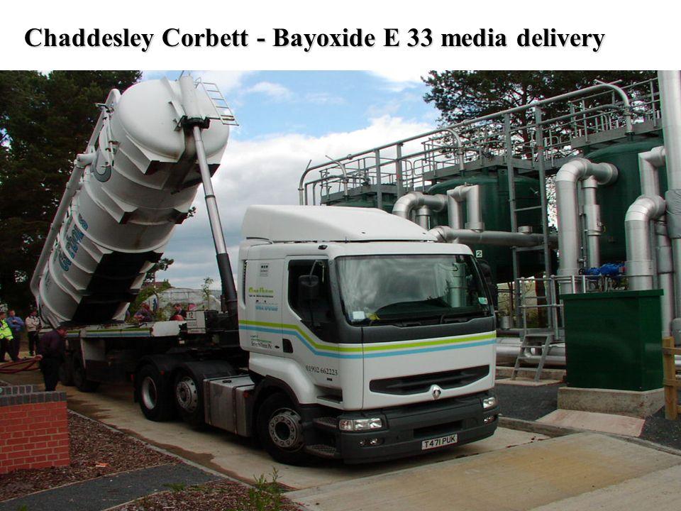 Chaddesley Corbett - Bayoxide E 33 media delivery