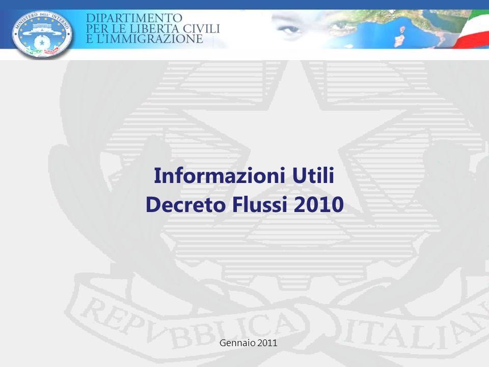 Informazioni Utili Decreto Flussi 2010