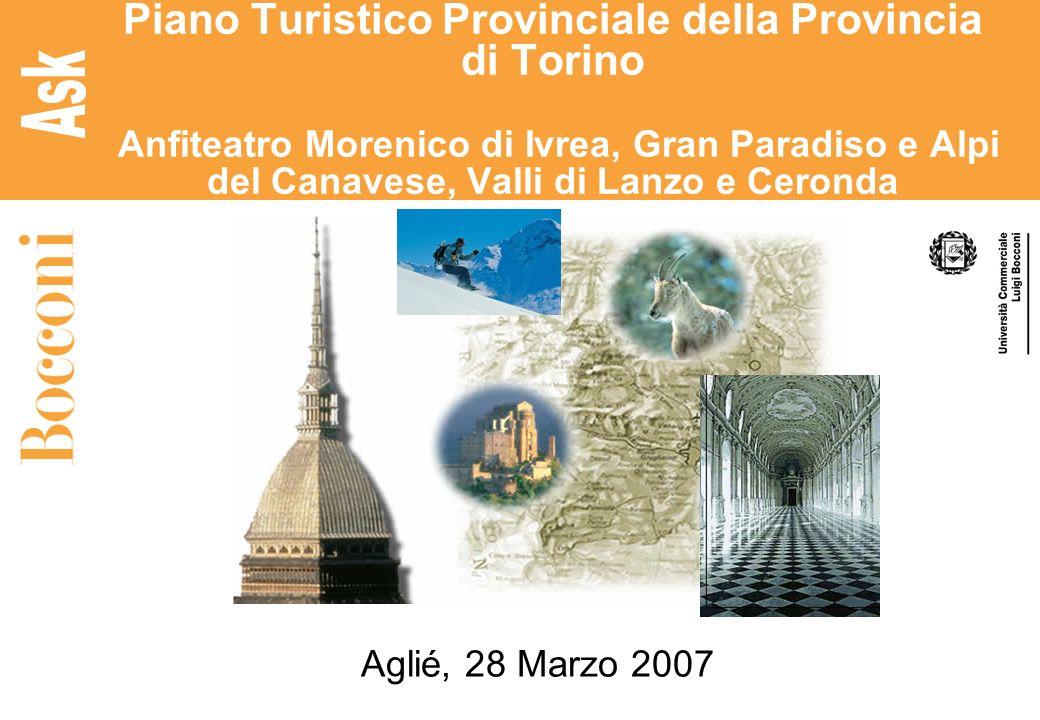 Piano Turistico Provinciale della Provincia di Torino Anfiteatro Morenico di Ivrea, Gran Paradiso e Alpi del Canavese, Valli di Lanzo e Ceronda