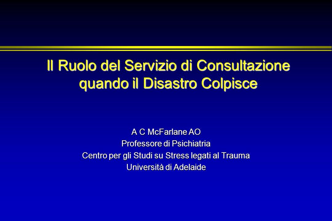 Il Ruolo del Servizio di Consultazione quando il Disastro Colpisce