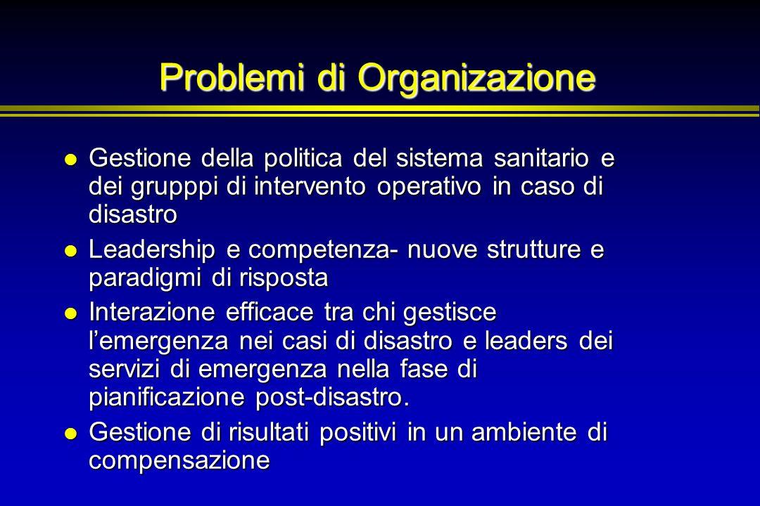 Problemi di Organizazione