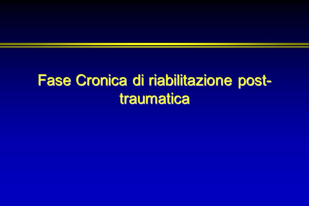 Fase Cronica di riabilitazione post-traumatica
