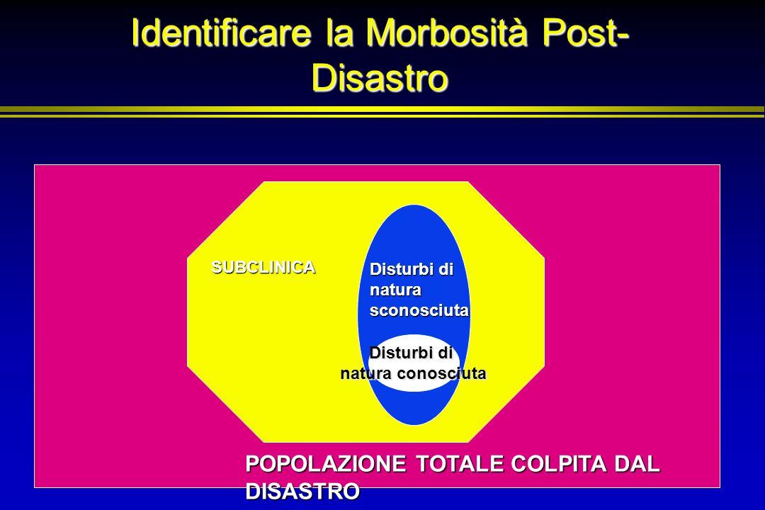 Identificare la Morbosità Post-Disastro