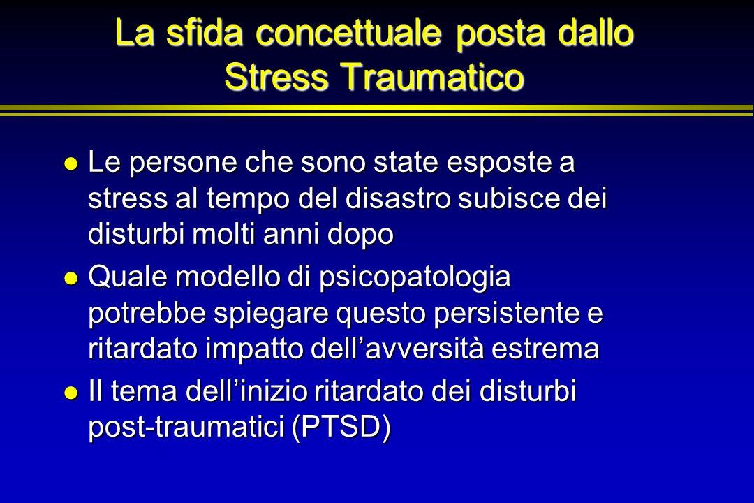 La sfida concettuale posta dallo Stress Traumatico