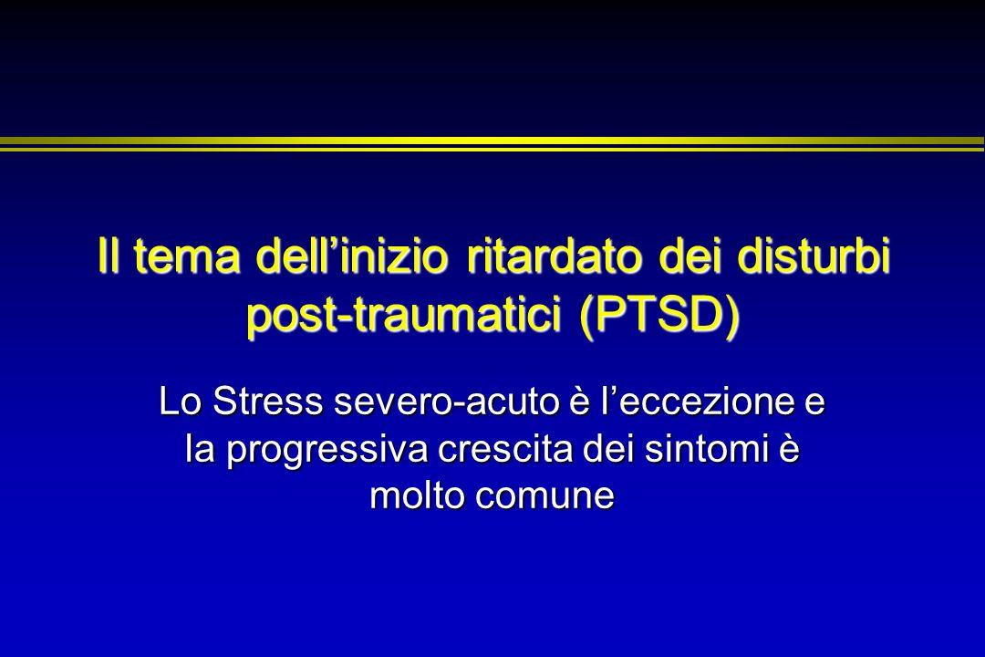 Il tema dell'inizio ritardato dei disturbi post-traumatici (PTSD)