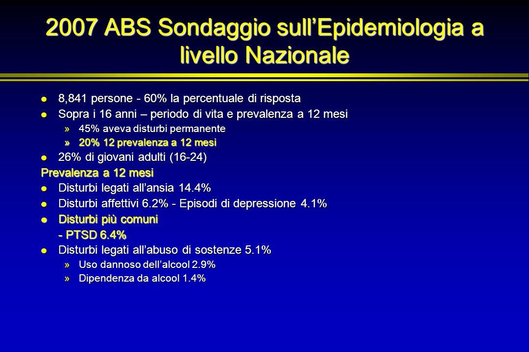 2007 ABS Sondaggio sull'Epidemiologia a livello Nazionale