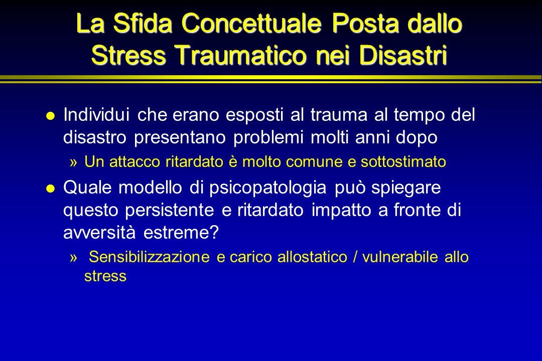 La Sfida Concettuale Posta dallo Stress Traumatico nei Disastri