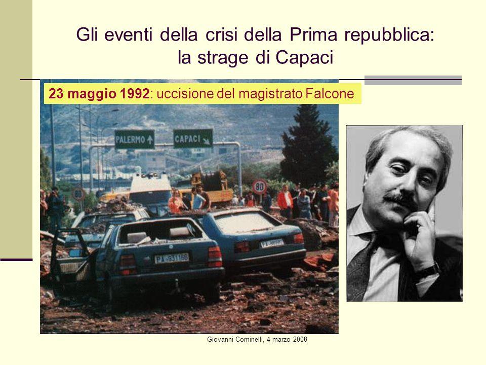 Gli eventi della crisi della Prima repubblica: la strage di Capaci