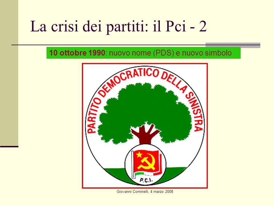 La crisi dei partiti: il Pci - 2