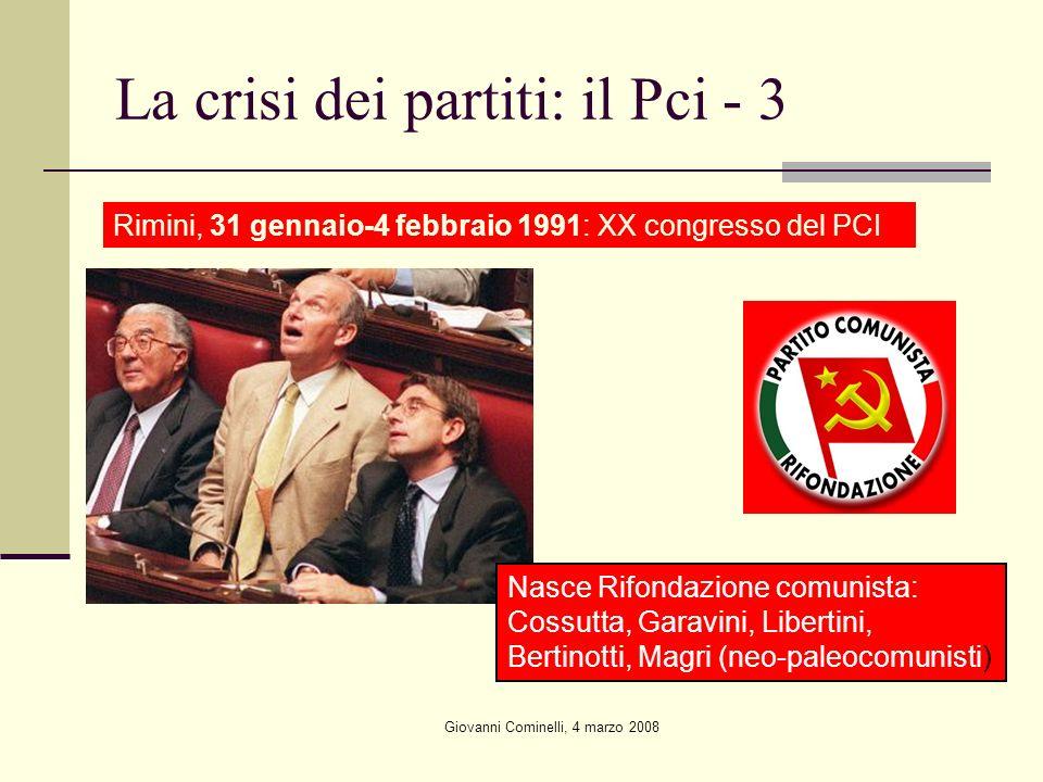 La crisi dei partiti: il Pci - 3