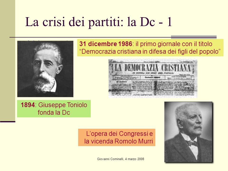 La crisi dei partiti: la Dc - 1
