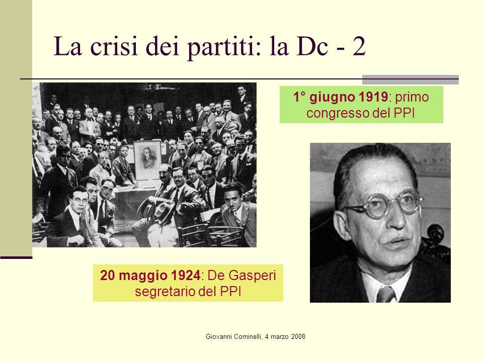 La crisi dei partiti: la Dc - 2