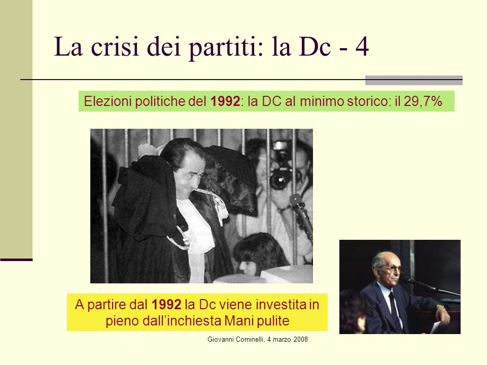 La crisi dei partiti: la Dc - 4