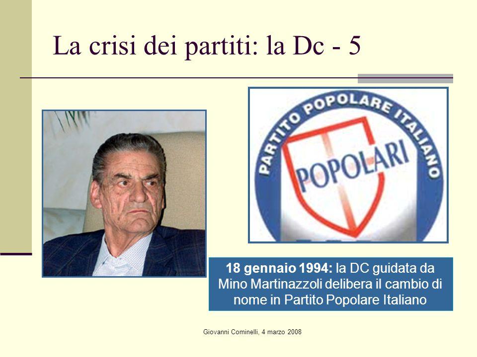 La crisi dei partiti: la Dc - 5
