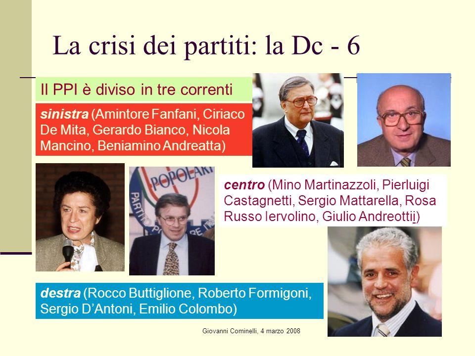 La crisi dei partiti: la Dc - 6