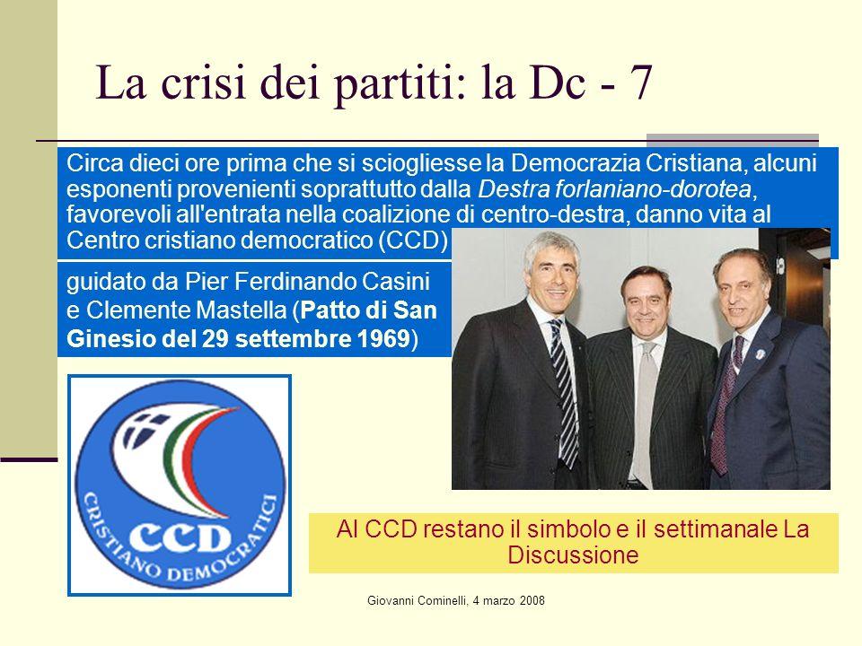 La crisi dei partiti: la Dc - 7