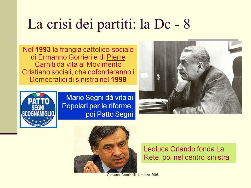 La crisi dei partiti: la Dc - 8