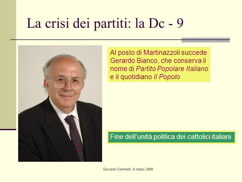 La crisi dei partiti: la Dc - 9