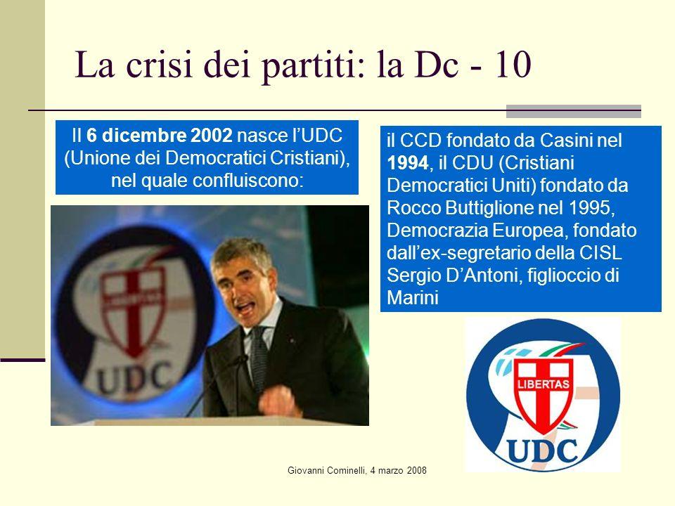 La crisi dei partiti: la Dc - 10