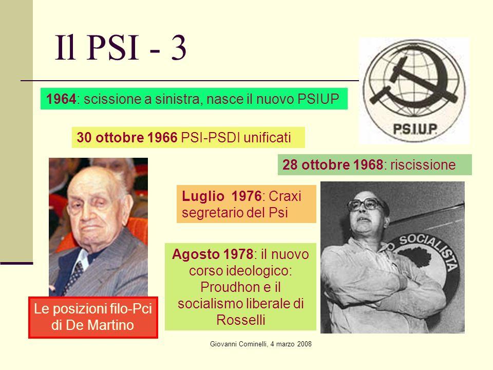 Il PSI - 3 1964: scissione a sinistra, nasce il nuovo PSIUP