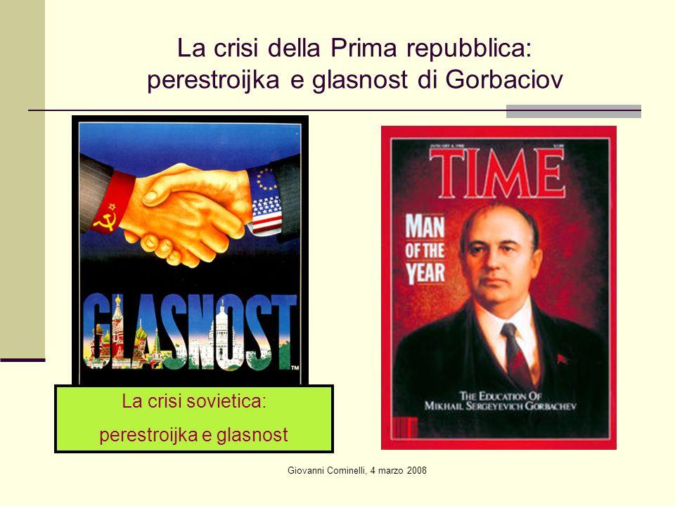 La crisi della Prima repubblica: perestroijka e glasnost di Gorbaciov