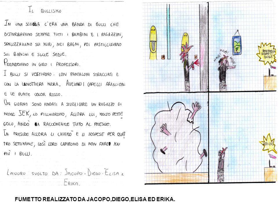 FUMETTO REALIZZATO DA JACOPO,DIEGO,ELISA ED ERIKA.