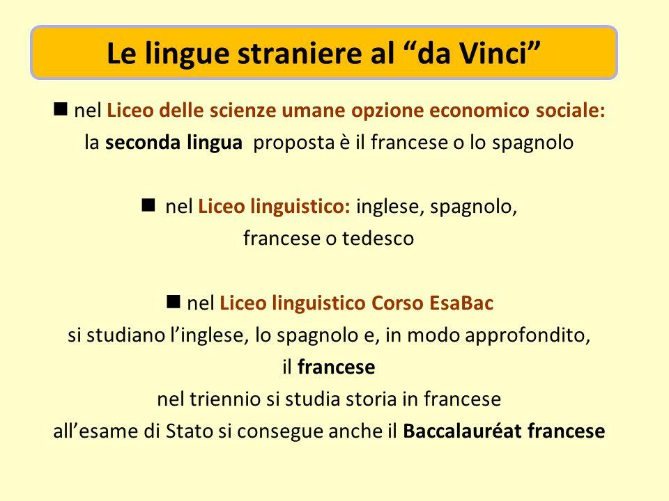 Le lingue straniere al da Vinci