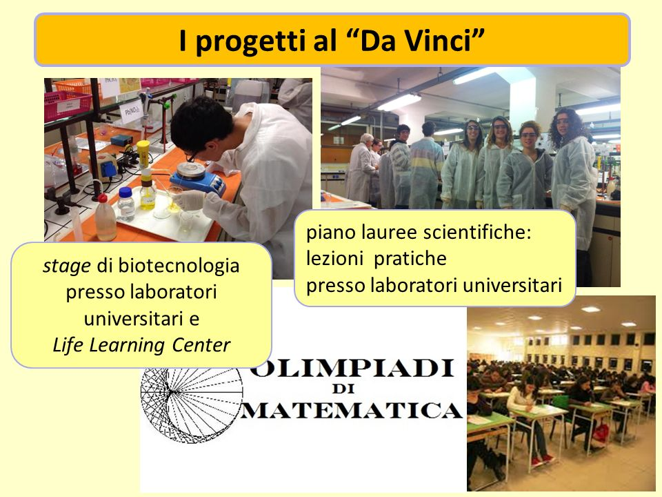 I progetti al Da Vinci