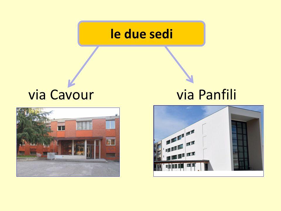 le due sedi via Cavour via Panfili
