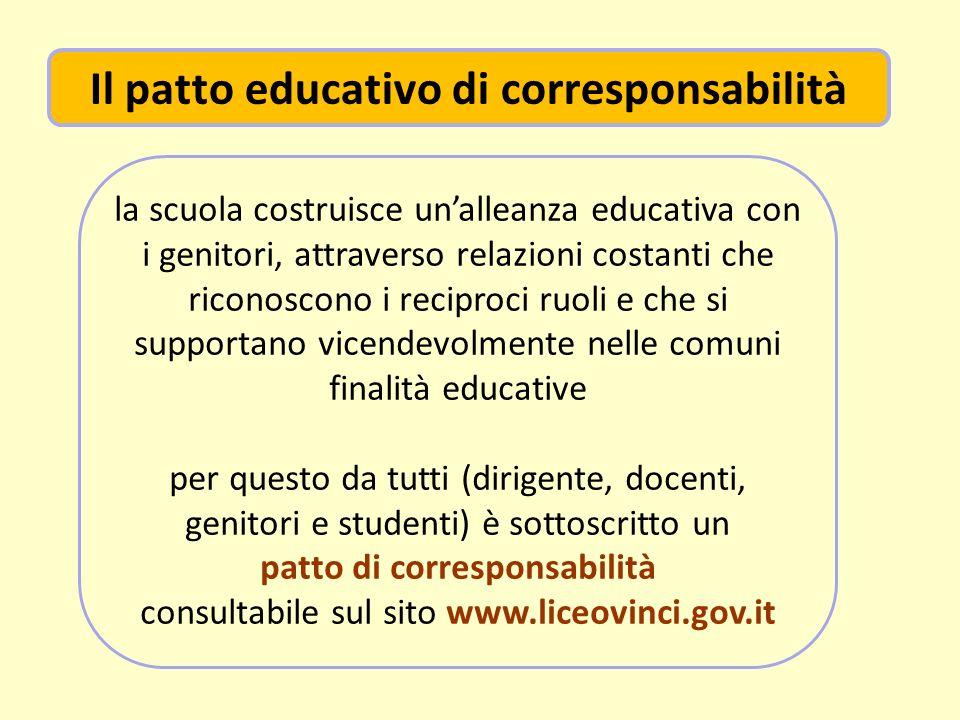 Il patto educativo di corresponsabilità