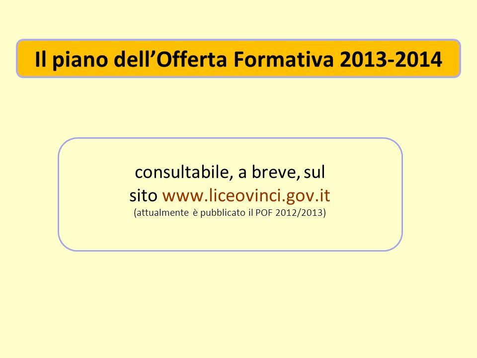 Il piano dell'Offerta Formativa 2013-2014