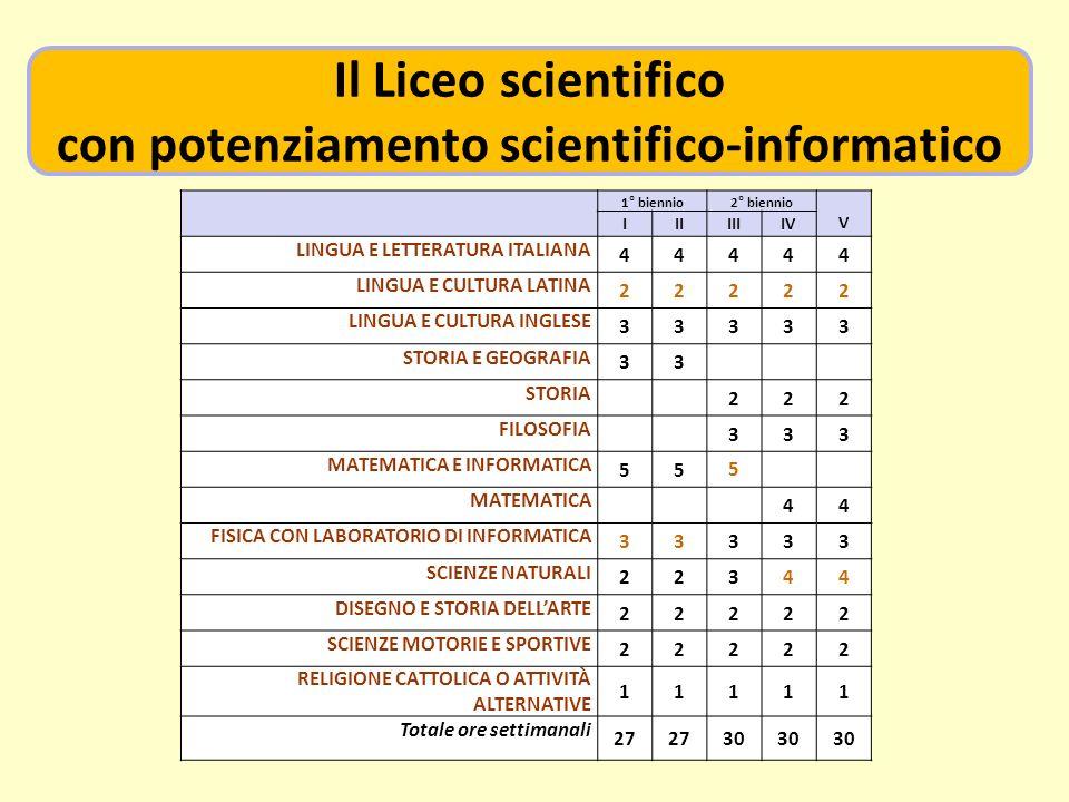 con potenziamento scientifico-informatico