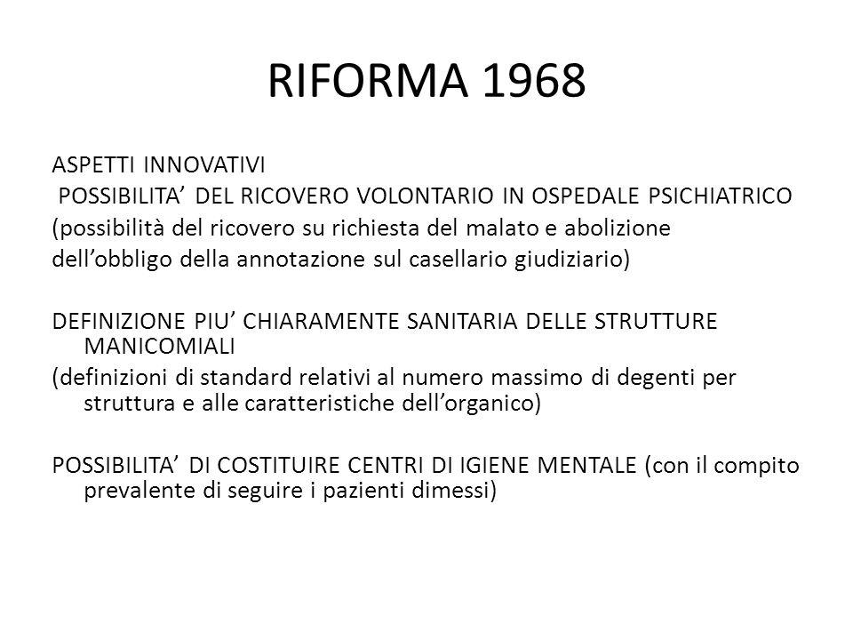 RIFORMA 1968 ASPETTI INNOVATIVI