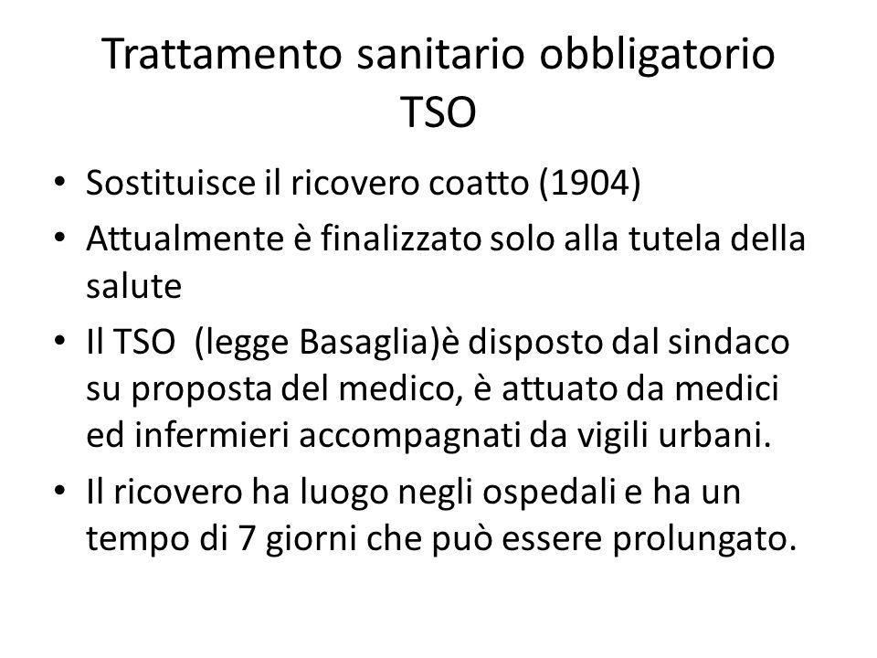 Trattamento sanitario obbligatorio TSO