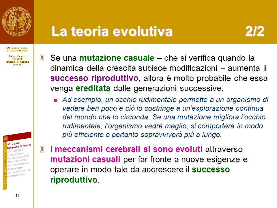 La teoria evolutiva 2/2