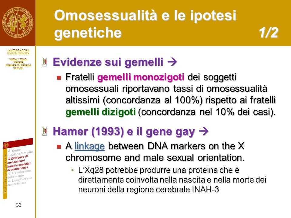 Omosessualità e le ipotesi genetiche 1/2