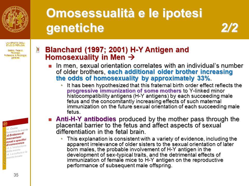 Omosessualità e le ipotesi genetiche 2/2