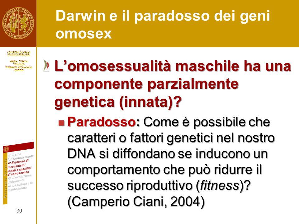 Darwin e il paradosso dei geni omosex