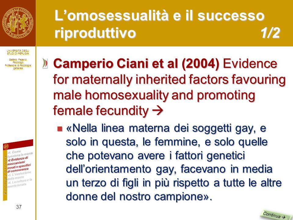 L'omosessualità e il successo riproduttivo 1/2