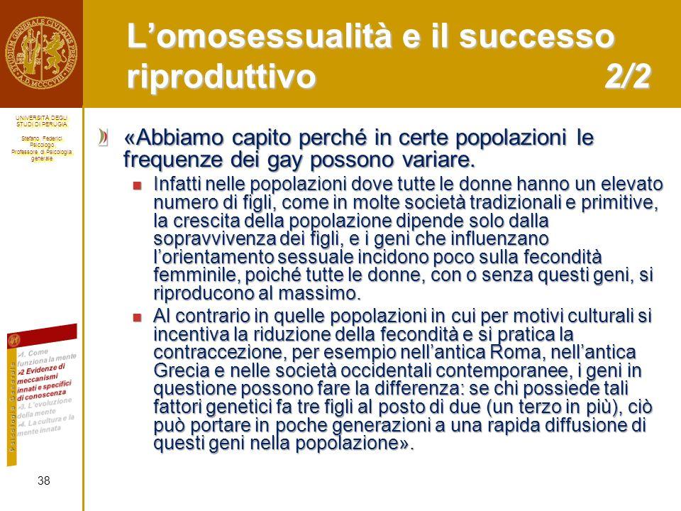 L'omosessualità e il successo riproduttivo 2/2