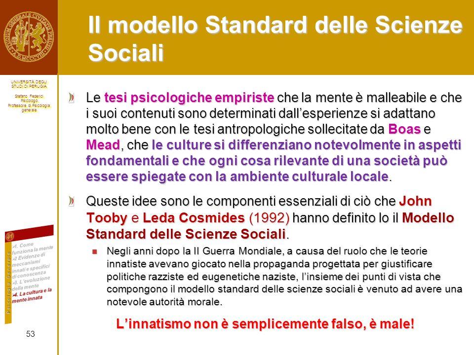 Il modello Standard delle Scienze Sociali