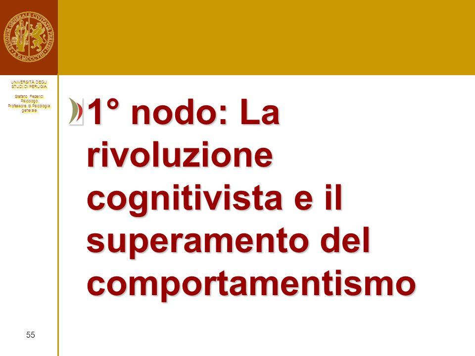 1° nodo: La rivoluzione cognitivista e il superamento del comportamentismo