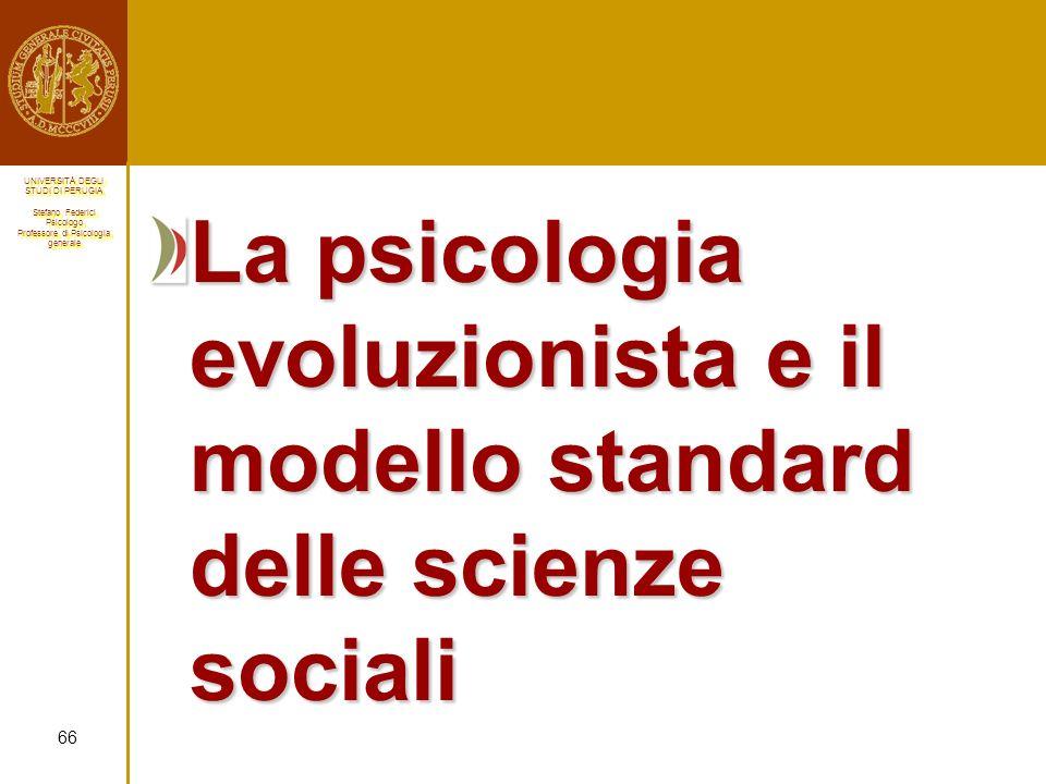 La psicologia evoluzionista e il modello standard delle scienze sociali