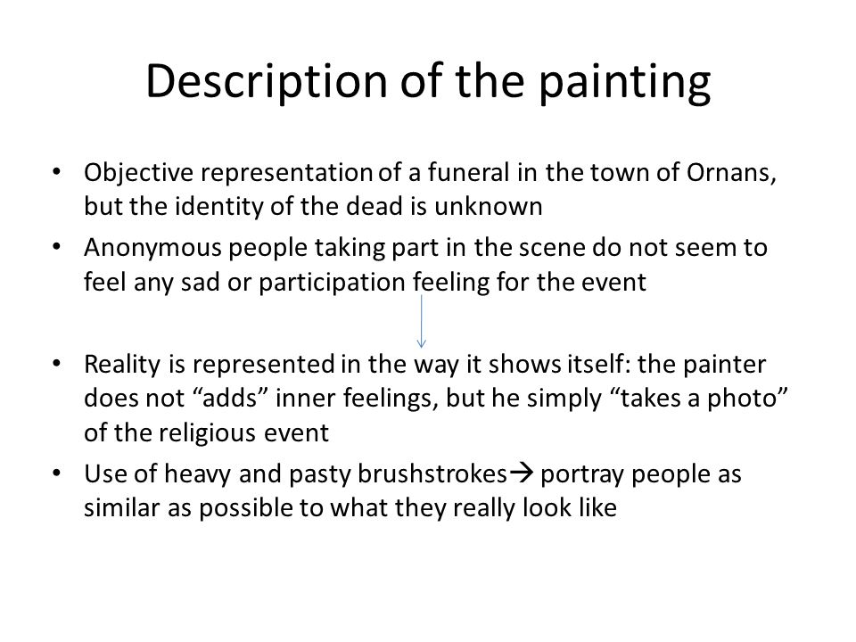Description of the painting