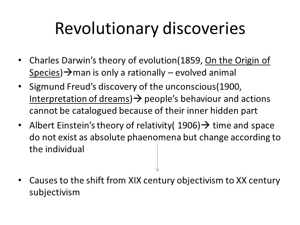 Revolutionary discoveries